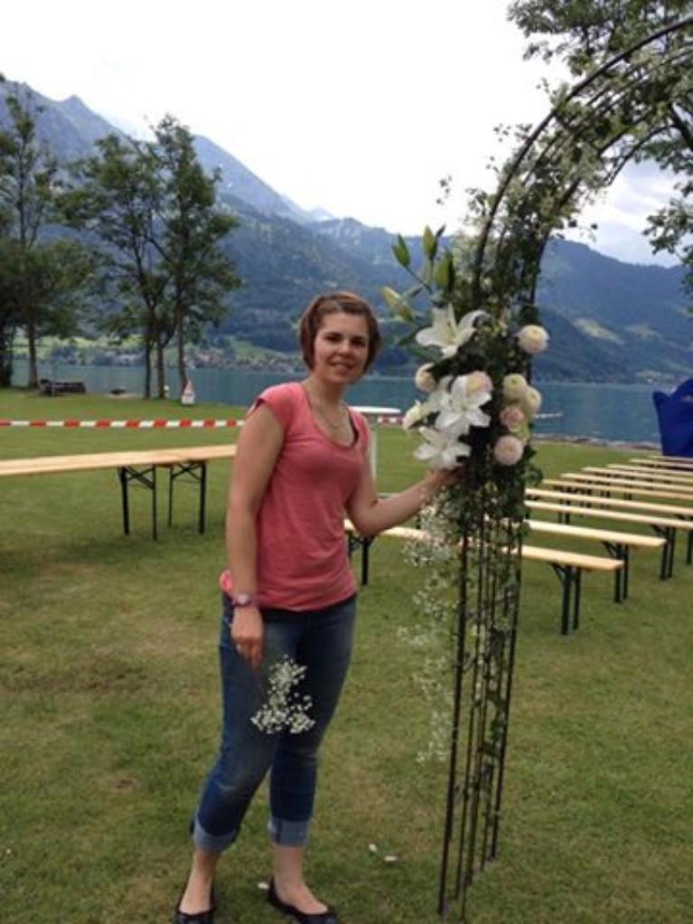 Hochzeit am See Tor Blumen