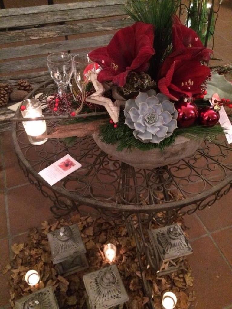 Weihnachten Blumengesteck 2015